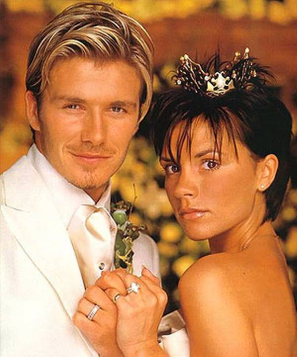 The Beckhams - David & Victoria (beautiful crown there Posh).