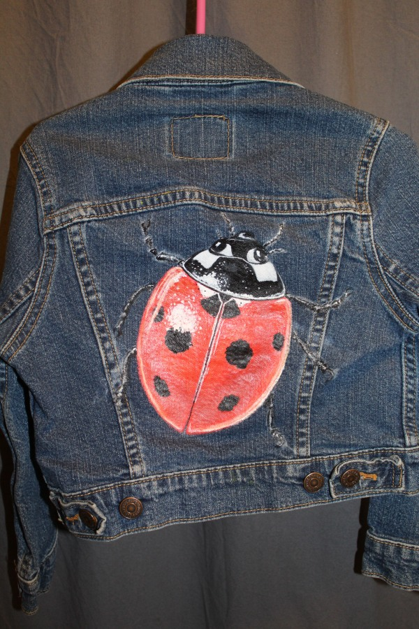 Lady Bug - Extra small little kids levi's jacket - $85.