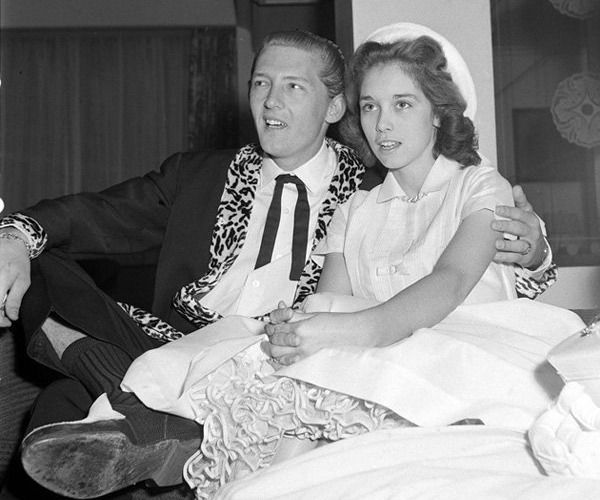 Jerry Lee Lewis and his 13 year old cousin/wife, Myra
