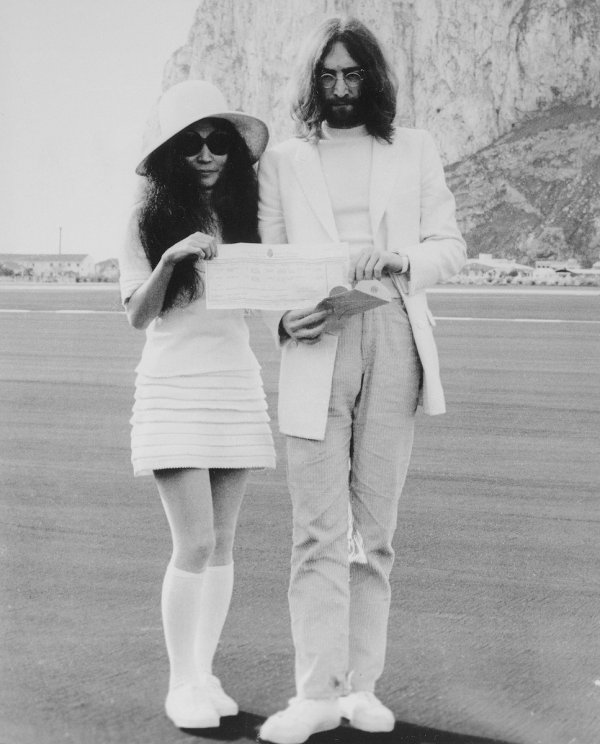 John & Yoko married at the rock of gibraltar