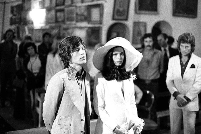 Mick & Bianca Jagger - looking disinterested
