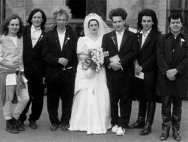 Robert and Mary Smith and the rest of The Cure